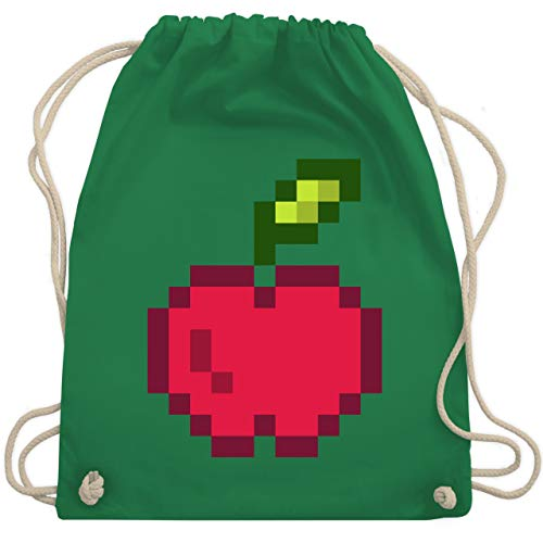 Karneval & Fasching - Pixel Apfel - Karneval Kostüm - Unisize - Grün - WM110 - Turnbeutel & Gym - Karneval Kostüm Hersteller