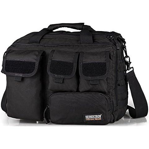 Seibertron Hombro Pro- multifuncion para hombre militar tactico al aire libre Messenger Bag Bolsos Maletin grande suficiente para 14.1