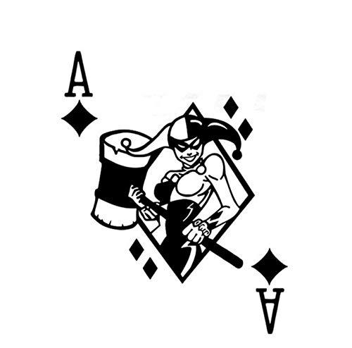 Pegatinas calcomanía coche Queen Sexy Joker Poker