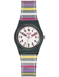 Trendy Kiddy - KL 248 - Montre Fille - Quartz Analogique - Cadran Blanc - Bracelet Plastique Multicolore