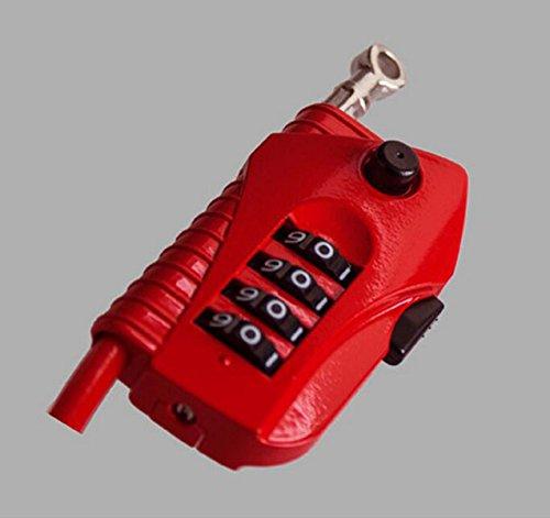4 Password Lock Bicyclette Pliante Serrure De Câble Verrouiller Fil De Verrouillage De La Bicyclette Le Verrouillage De La Batterie 2 M,Red