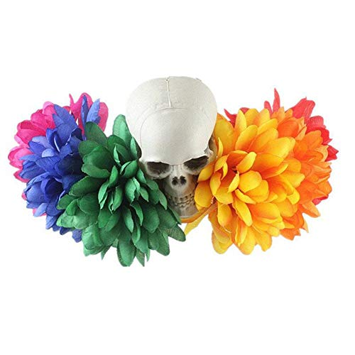 Rikey European American Artificial Flower Head Buckle Halloween Cosplay Party Hair Horns Gimmick Funny Headband