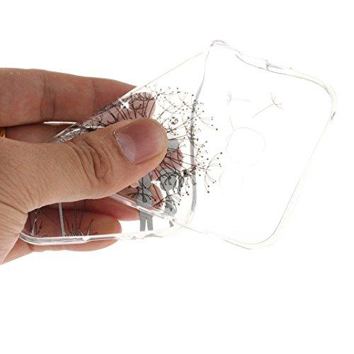 Galaxy A5 2017 Schutzhülle, Rosa Schleife Samsung Galaxy A520 Crystal Case Handyhülle Ultra Dünn TPU Silikon Backcover Durchsichtig Gel Case Diamond Bling Schutzhülle klar für Samsung Galaxy A5 2017 m a - Schwarz Löwenzahn
