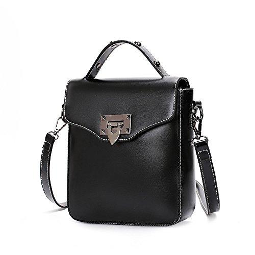 Meoaeo Meine Damen Schultertasche Neue Retro Mobile Bag Einfache Frau Single Schulter Hellbraun black