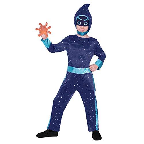 Ninja Für Jungen Blau Kostüm - amscan 9904235 Kinderkostüm PJ Masks Nacht-Ninja, Jungen, Blau, 116 cm