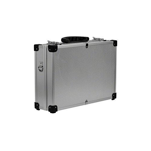 Mallette valise de rangement argentée