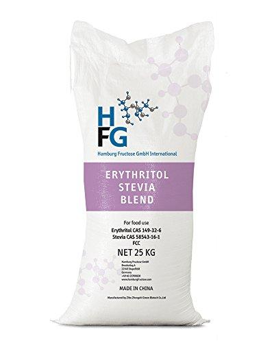Natürliche Zucker Ersatz (NO SUGAR SUGAR | Erythrit+Stevia (25 kg Sack) Zuckerersatz Low-Carb & kalorienfrei)