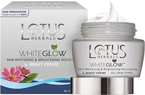 Lotus Herbals Whiteglow Skin Whitening & Brightening Nourishing Night Crème, 40 g