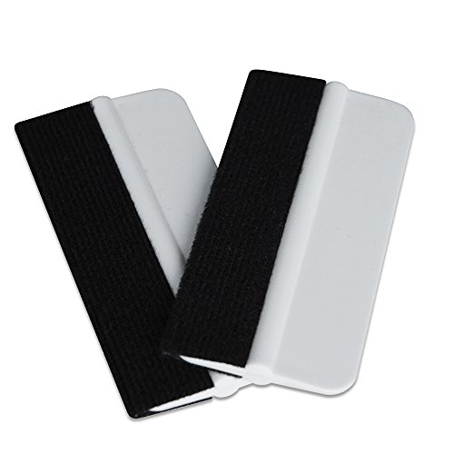 Outil Ehdis® 2PCS en vinyle souple Wrap Mini Window Tint Film Installation Raclette Vinyl Film Applicator Raclette pour Vinyl Wraps & Stickers avec tissu noir en feutre