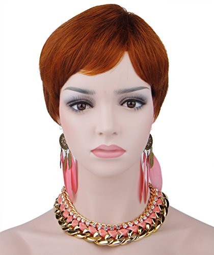 Spretty Women's Charming kurze rotbraune Bob hitzebeständige synthetische Perücke für (Lady Ciel Kostüm)