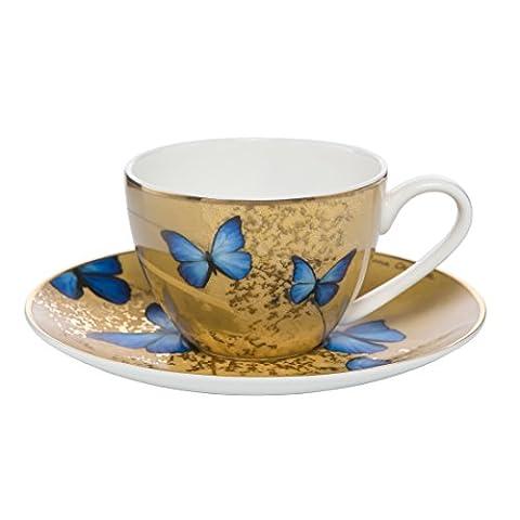 Espressotasse Blaue Schmetterlinge 0,1 l / Demitasse Blue Butterflies 0,1