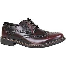 Scarpe francesine uomo class bordeaux vernice effetto lucido casual eleganti 4ba22f3d9a3