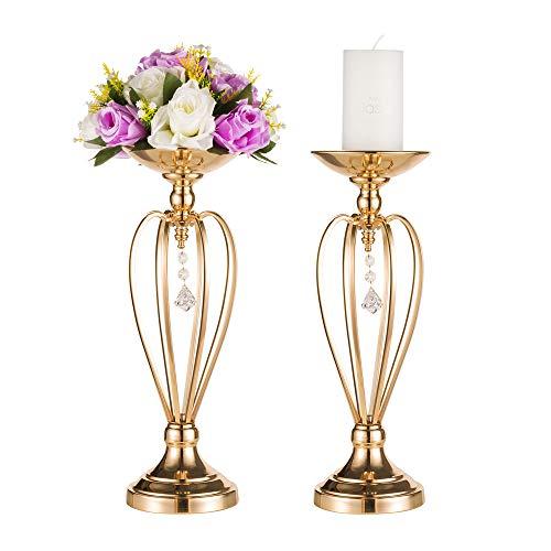 Tischdekoration Blumenständer für Hochzeit Party Empfang, herzförmige Dekoration Haupttisch Mitte, Hausdekoration Blumen Tischdekoration Kerzenständer, Dekoration für feierliche Anlässe