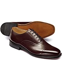 Chocolate Goodyear Welted Oxford Shoe by Charles Tyrwhitt