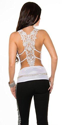 In-Stylefashion - Débardeur - Femme Beige Beige Blanc - blanc
