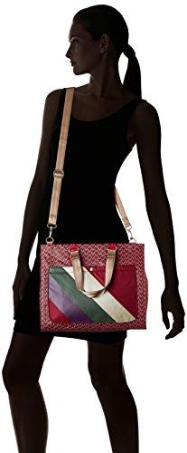 Bensimon - Shopping Bag, Borsa con Maniglia Donna Rose (Imprime Rose)