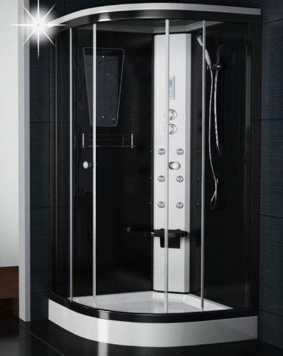 Regendusche Duschkabine 100x100 Duschkabinen 100 cm Duschtempel Viertelkreis Badmöbel