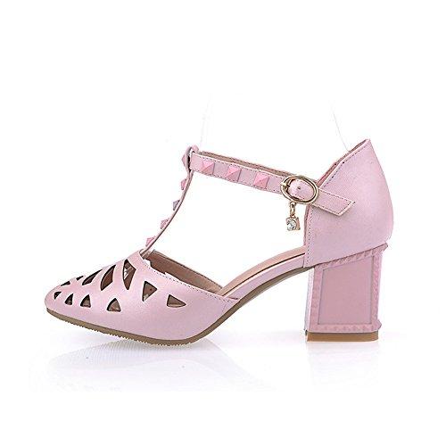 Adee Mesdames pointed-toe kitten-heels polyuréthane Sandales Rose - rose