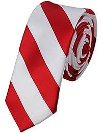 Cravate collégiale tissée ultra mince de 5,1 cm à rayures. Produit offert par NYFASHION101.