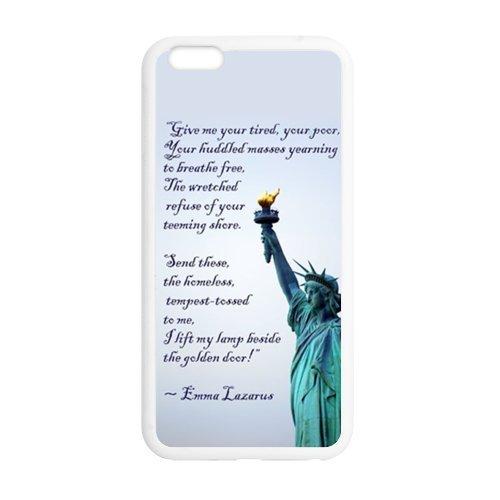 Statue de la Liberté Étui de protection en silicone et TPU Étui avec Screen Protector, Mobile Phone Case Back Cover pour Iphone 6plus blanc noir for iPhone 6Plus (White/Black)
