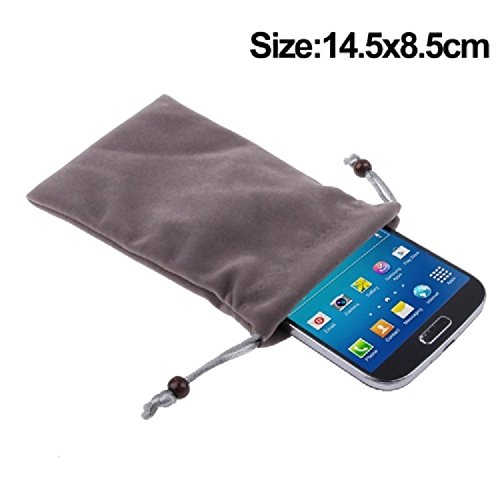 "DFV mobile - Case Cover Soft Cloth Flannel Carry Bag with Chain and Loop Closure for =>      APPLE IPHONE 6 [4,7""] > Brown Brown"