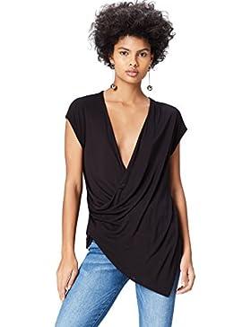 FIND Shirt Donna con Taglio Asimettrico