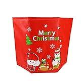 BESTOYARD Pied de Sapin Noël Tissu Boite Boite Cadeau Noel avec Motif Père Noël Bonhomme de Neige Flocon de Neige Merry Christmas Decoration Arbre de Noel