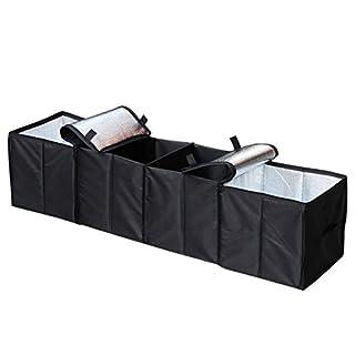 Autoark AK-U18 Aufbewahrungskorb für Kofferraum, Organizer und Kühler, faltbar, Schwarz