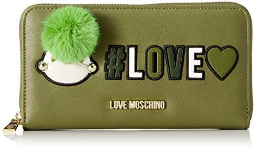 Love Moschino Damen Portafogli Pu Geldbörse, Grün (Verde), 3x11x20 cm