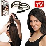 Big Happie Hair Allstar Bio21712 Bumpits Volumizing Inserts- Dark Brown/Black by Big Happie Hair