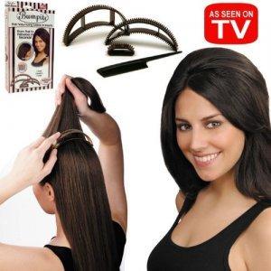 Price comparison product image Big Happie Hair Allstar Bio21712 Bumpits Volumizing Inserts- Dark Brown / Black