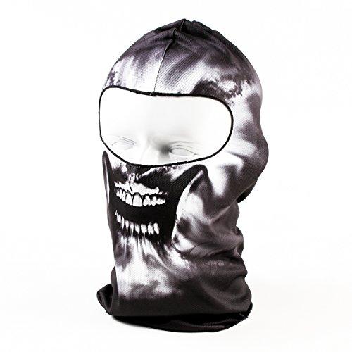 OneTigris Dünn 3D Drucken Outdoor/Außen Vollgesichtsmaske Sturmhaube Kopfbedeckung Balaclava (02)