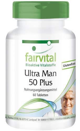 Ultra Man 50 Plus - HOCHDOSIERT - 60 Tabletten - Multivitamin für Männer - über 50 Inhaltsstoffe -