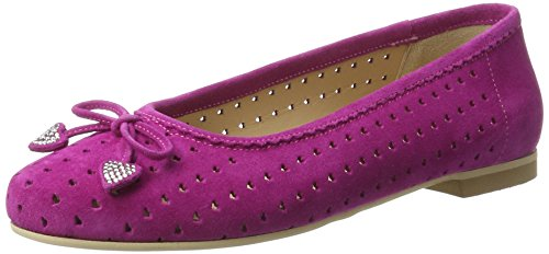 Diavolezza Ladies Jenny Closed Ballerinas Pink (fucsia)