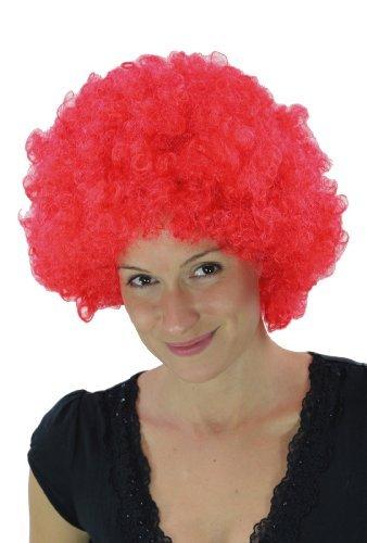 WIG ME UP ® - PW0011-PC13 Knallrote Afroperücke Hair Tokyo Foxy Funk (Perücke Clown)