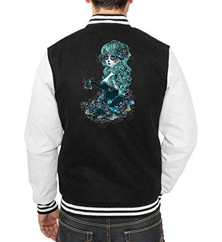 Santa Muerte Blue College Vest Black Certified Freak-M (Lustige College Boy Kostüme)