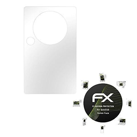 Sandisk Sansa Fuze Spiegelfolie - atFoliX FX-Mirror Displayschutz Folie mit Spiegeleffekt