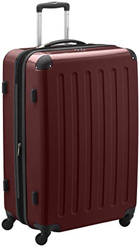 HAUPTSTADTKOFFER - Alex - Hartschalen-Koffer Koffer Trolley Rollkoffer Reisekoffer Erweiterbar, 4 Rollen, TSA, 75 cm, 119 Liter, Burgund