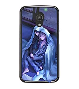 Printvisa Couple Wrapped Upon A Cold Evening Back Case Cover for Motorola Moto G2 X1068::Motorola Moto G (2nd Gen)
