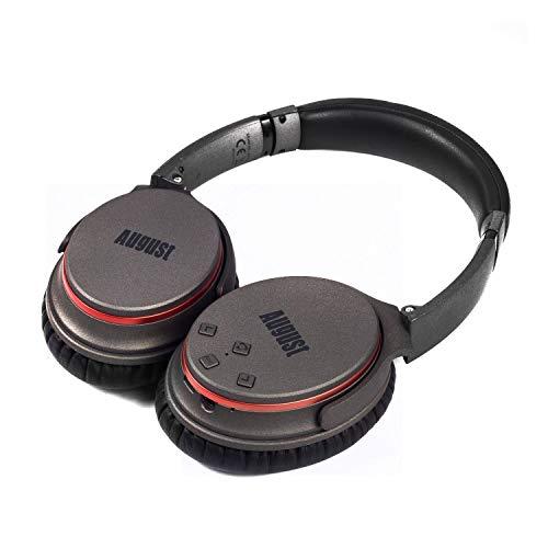 Active Noise Cancelling Kopfhörer mit Bluetooth v4.1 – August EP735 – Aktive Geräusch-Unterdrückung Over-Ear (Multipoint, Mikrofon, Fernsteuerungstasten, bis zu 18h Akku) - 3