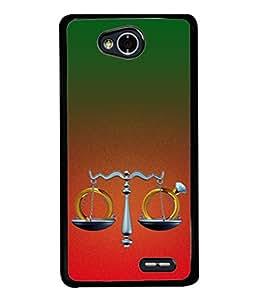 PrintVisa Designer Back Case Cover for LG L70 :: LG L70 Dual (Weighing scale diamonds balancing justice)