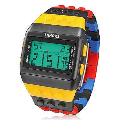 reloj-ladrillos-bloques-deportes-estilo-lcd-de-los-hombres-de-banda-de-plastico-de-colores-digitales