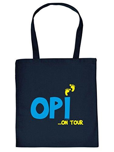 Hammer coole Einkaufstasche für den Opa - Opi on Tour - Geschenk Weihnachtsgeschenk Tasche Tragetasche Baumwolltasche Großvater Grandpa Großeltern