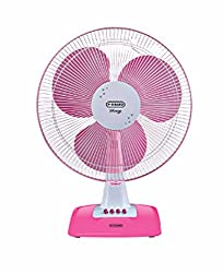 V-Guard Wingz Table Fan ( Pink & White )