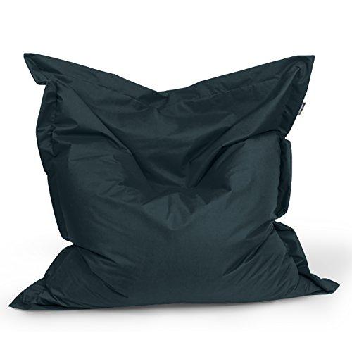 Sitzsack Rechteck BuBiBag Größe 180x145 cm (schwarz)