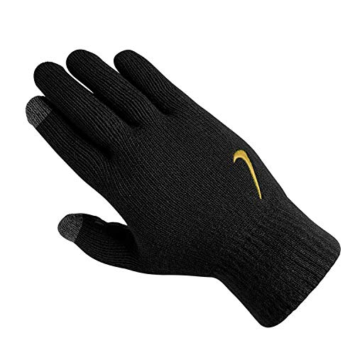 Nike Herren Knitted Tech und Grip Handschuhe, Black/Anthracite/Metallic, L/XL