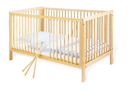 Pinolino - 111038 - Kinderbett Hanna 140 x 70 cm - mit 3 Schlupfsprossen aus vollmassiver Buche