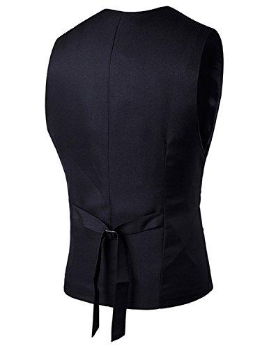 YCHENG mode Single-breasted Gilet Slim fit blazer Sans Manche Homme la cérémonie Gilets Noir