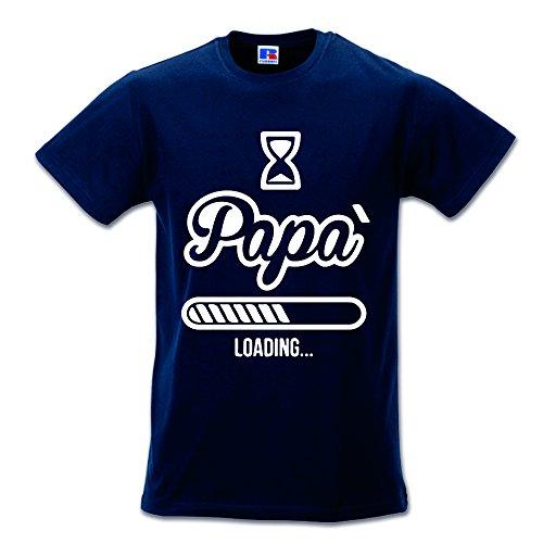 T shirt maglia maglietta idea regalo per il papa' papa' loading xl blu
