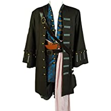 Daiendi de piratas del Caribe 4: Jack Sparrow disfraz para adulto tamaño de la UE